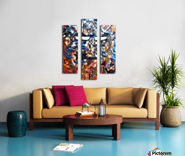 compuman Canvas print