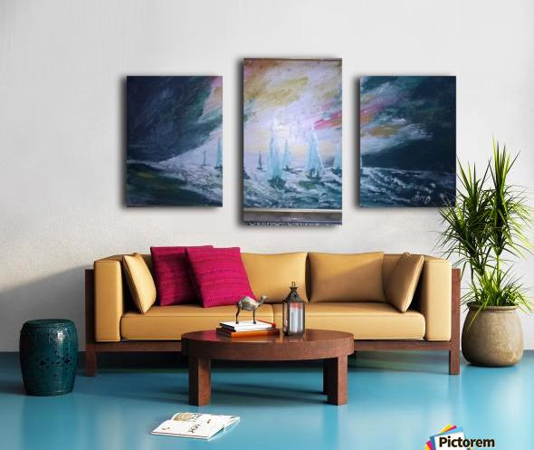 sail before storm Canvas print