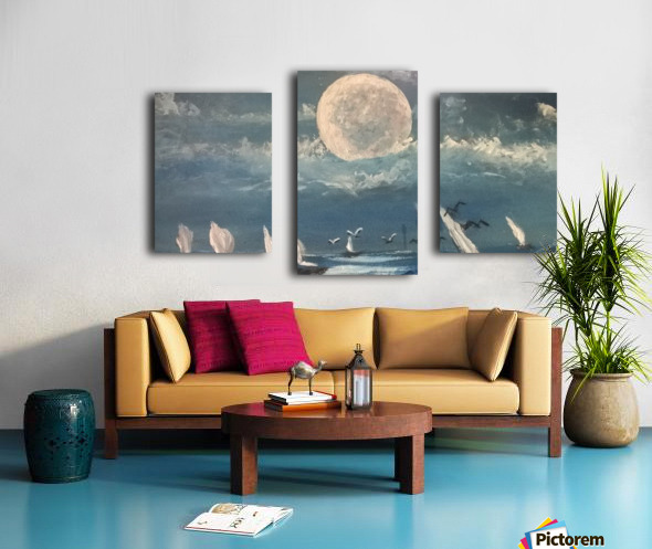 moon aura Canvas print