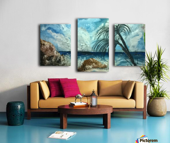 version island    Canvas print