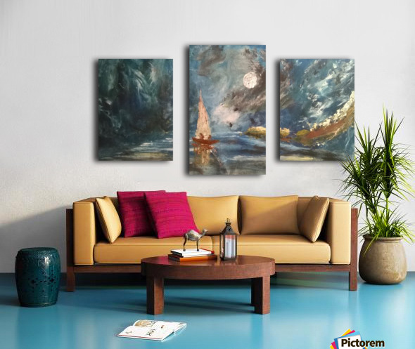 lost boat Canvas print