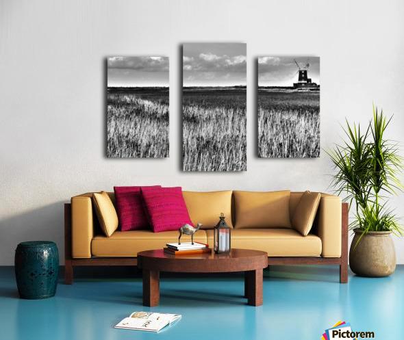 Marsh windmill Canvas print