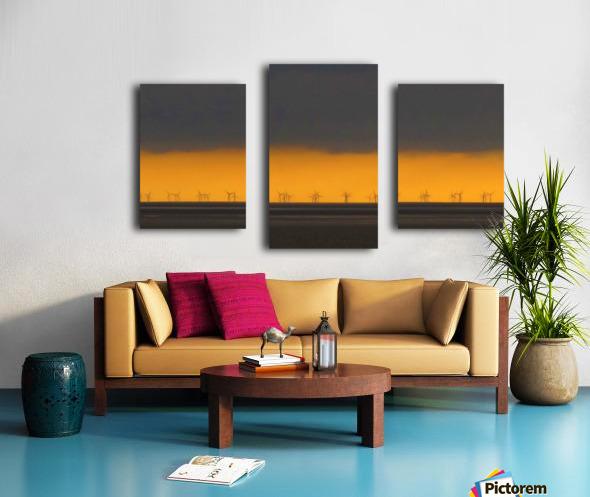 Windfarm layers Canvas print