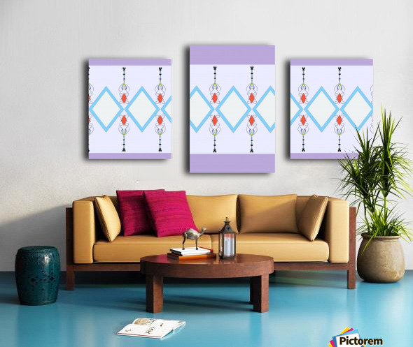 Pastel Pattern 1 Canvas print