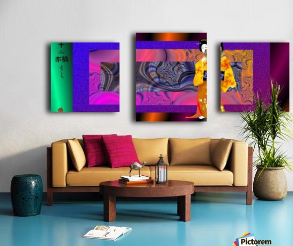 geishaYellowWith Canvas print