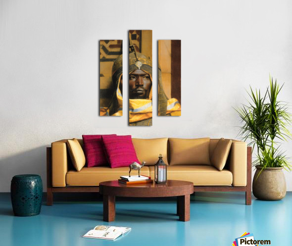 Portrait of Nubian Palace Guard Canvas print