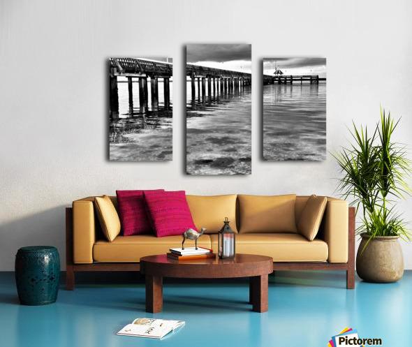 Dark Pier Impression sur toile