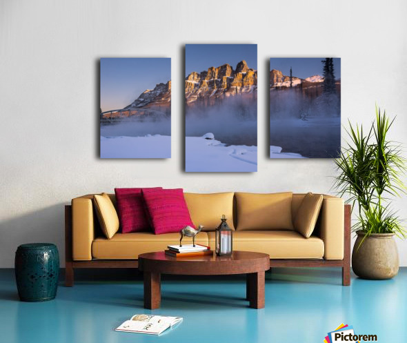 Castle morning Canvas print