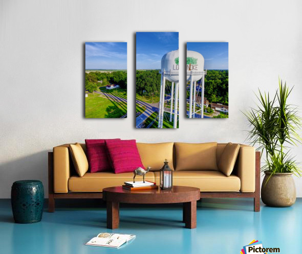 Lonoke, AR | Water Tower Canvas print