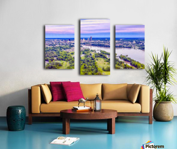 Little Rock, AR | Skyline Canvas print