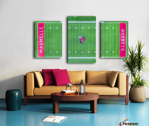 Maumelle, AR   Hornets Football Field Canvas print