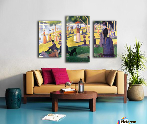 Sunday at La Grande Jatte by Seurat Canvas print