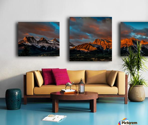 CanmoreSunrise Canvas print