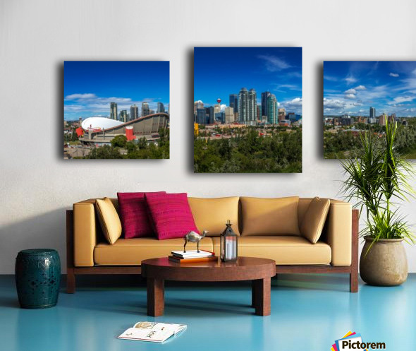 Calgary and the Saddledome on a Sunny Day Canvas print