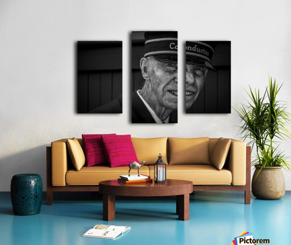 Conductor Canvas print