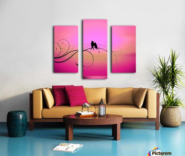 Love Birds Sunset Pink - Illuminary Artworks Canvas