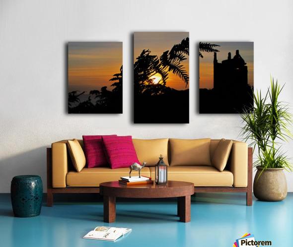 Fern castle sunset Canvas print