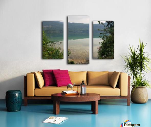 Crystal Clear White Lake Canvas print