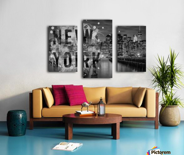 MANHATTAN SKYLINE Evening Atmosphere Canvas print