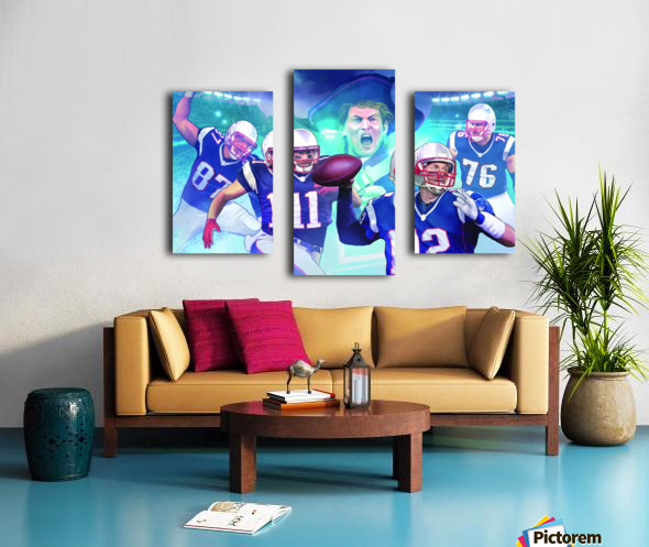 PATRIOTS Football Canvas print