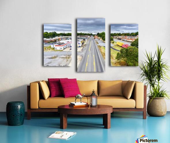 Lonoke, AR | Headed W on 70 Canvas print