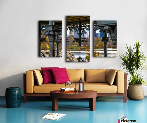 Inside Gazebo Central Park  Canvas print