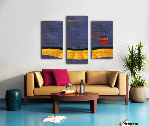 Two Moon Landscape 0628 Canvas print