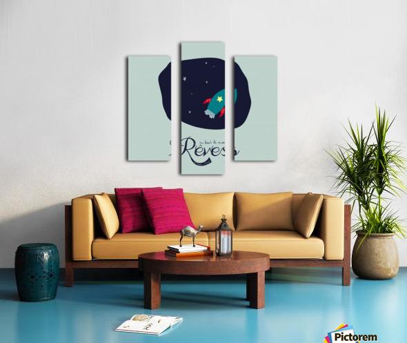 AU BOUT DES REVES Canvas print