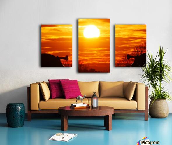 Train horn sunset Canvas print