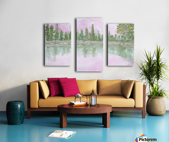 Pine reflections. Canvas print