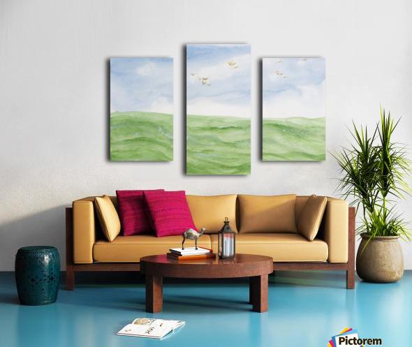 Birds over the ocean. Canvas print