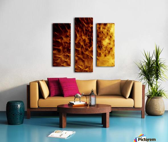 CURIOSITY - ORANGE Canvas print