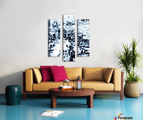 BURST - INVERTED Canvas print