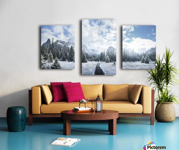 Mountain World Canvas print