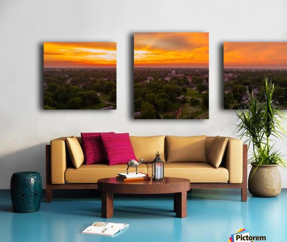Rushville, IL Sunset Canvas print
