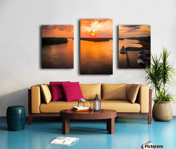 Grafton, IL River Sunset Canvas print