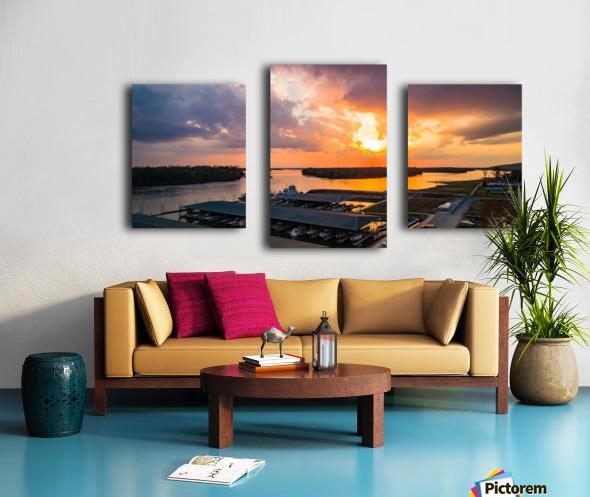 Grafton, IL Sunset Canvas print