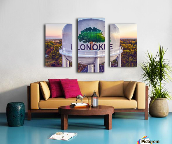Lonoke, AR | Painted Water Tower 2017 Canvas print