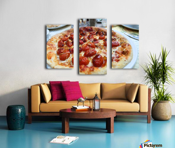 Pizza dans le Jardin de Nelson Canvas print