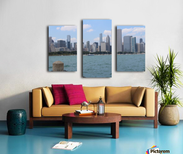 Chicago from the other side Canvas print