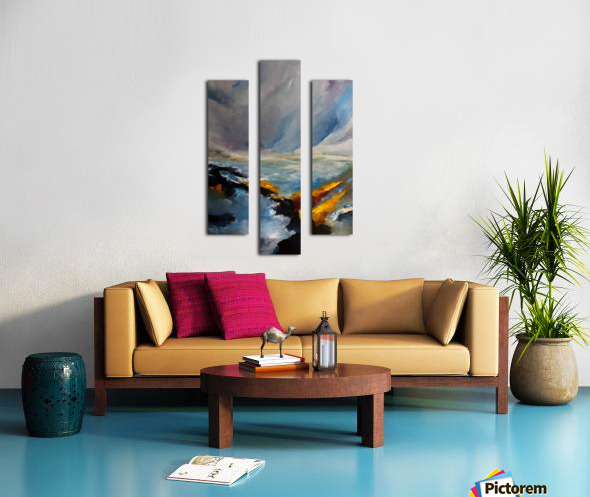 Sunlight on Waves_final Canvas print