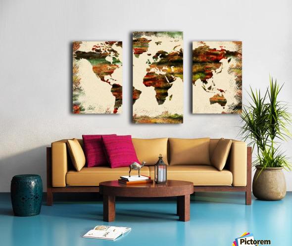 World Map Decorative Painting Canvas print