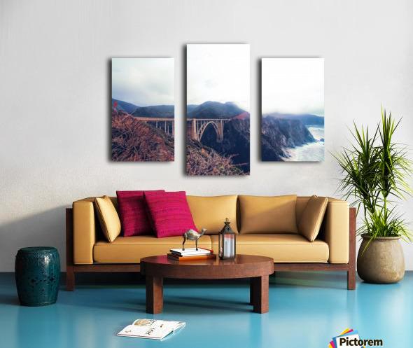 beautiful landscape at Bixby bridge, Big Sur, California, USA  Canvas print