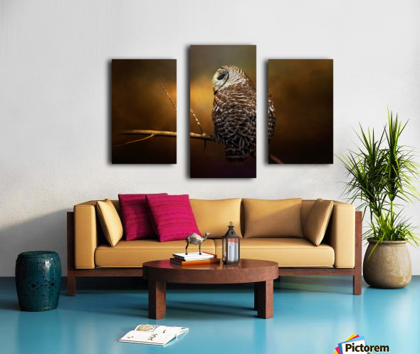 Textured Strix Varia Canvas print