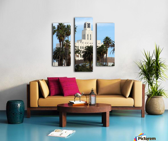 Clock Tower and Palm Trees Canvas print