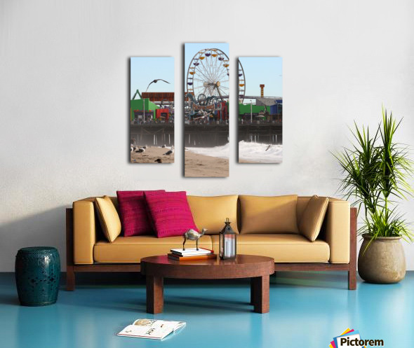Sea Gulls & Santa Monica Pier Canvas print