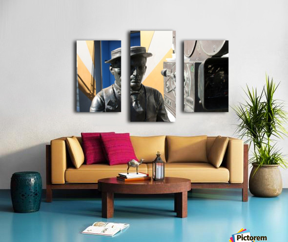 Buster Keaton Statue Canvas print