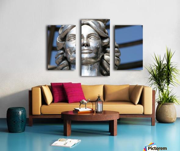 Silver Statue Face of Dorothy Dandridge Canvas print