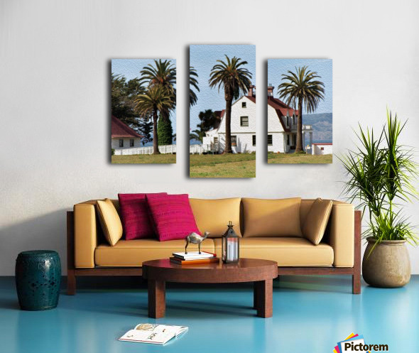 House at San Francisco Presidio Park Canvas print