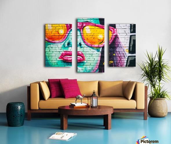 graffiti wall Canvas print